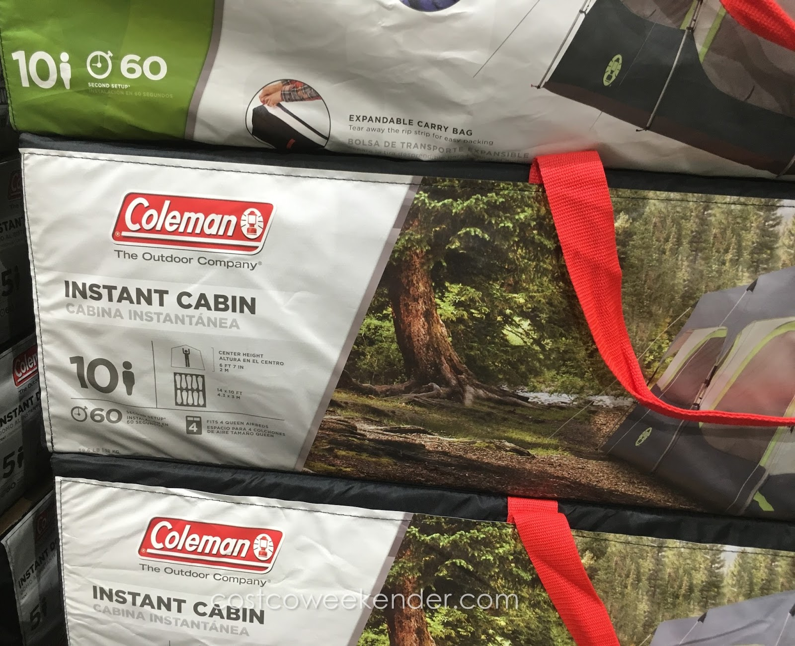Coleman 10-Person Instant Cabin Tent spacious and great for large groups & Coleman 10-Person Instant Cabin Tent | Costco Weekender