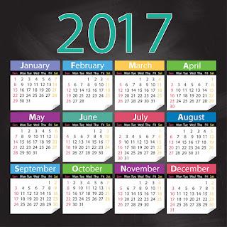 2017カレンダー無料テンプレート151