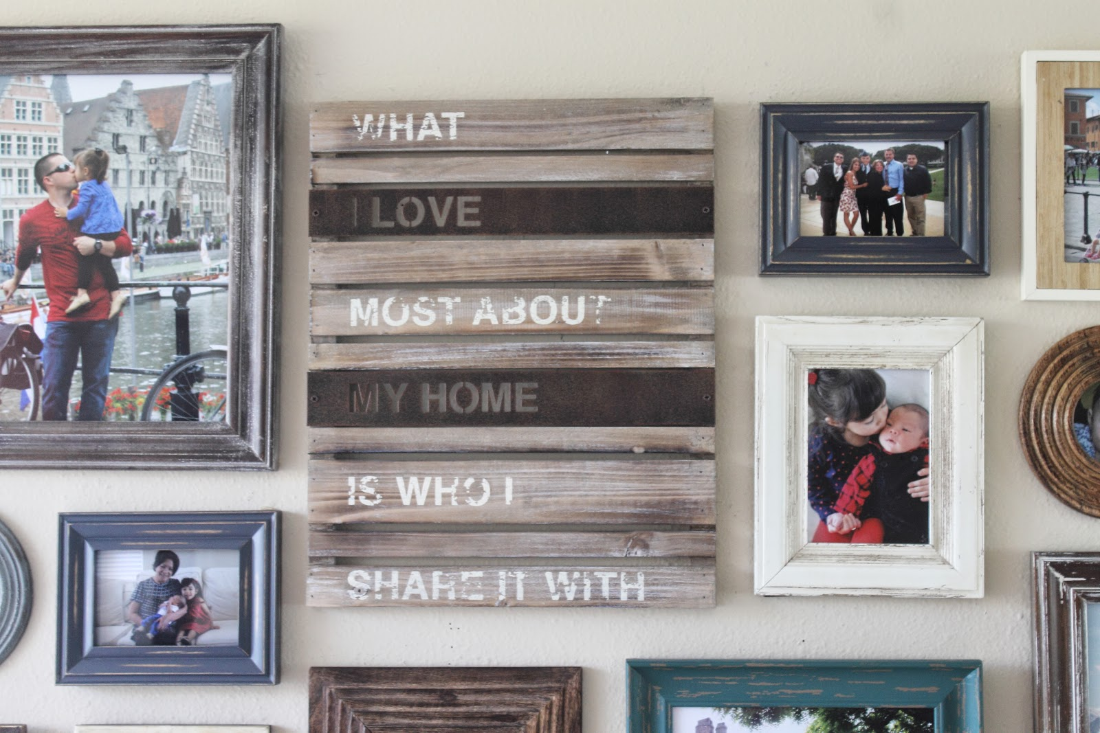 Make It Cozee Living Room Progress Rustic Frame Collage