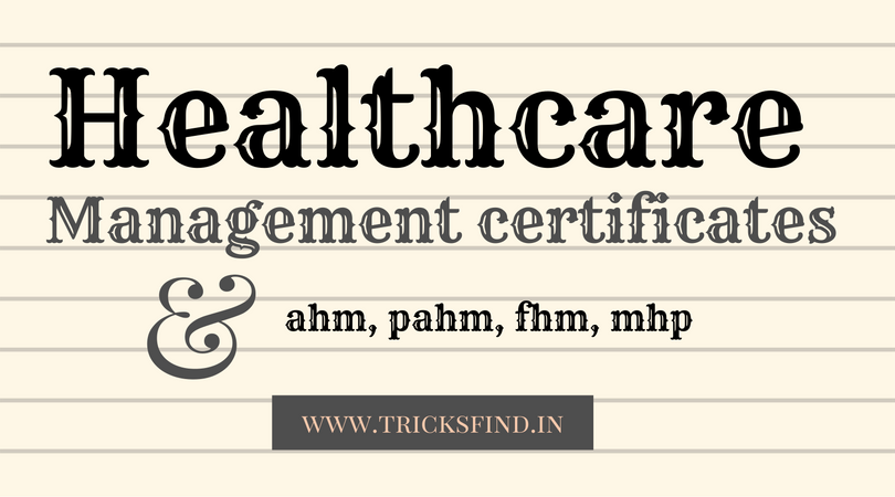 Healthcare Management Certificates Techies House