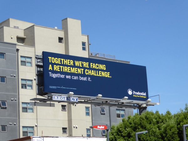 retirement challenge Prudential billboard