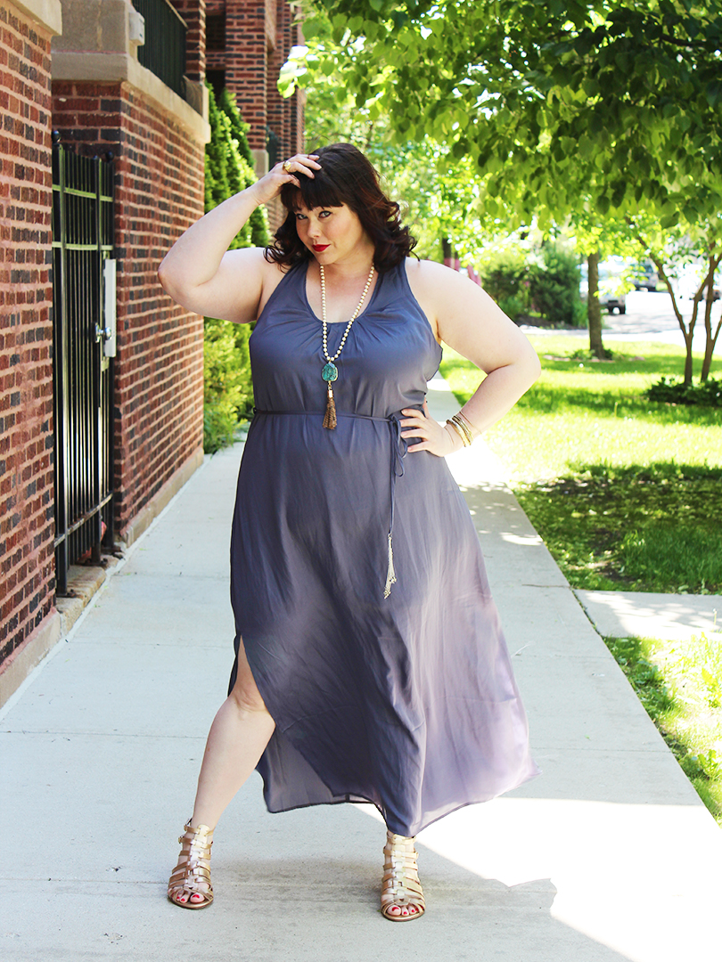 plus size model, plus size blogger, Amber from Style Plus Curves, City Chic, City Chic Blue Maxi Dress
