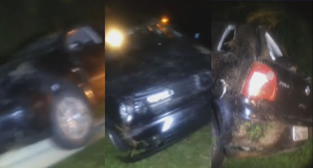 Motorista perde o controle e capota veículo na rodovia São João x Pinhal