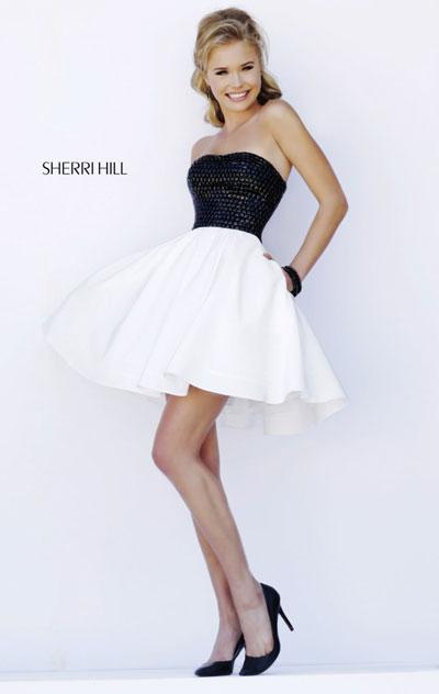 Prom Dresses 2018 Online Sale Sherri Hill 32154 Blackwhite Prom