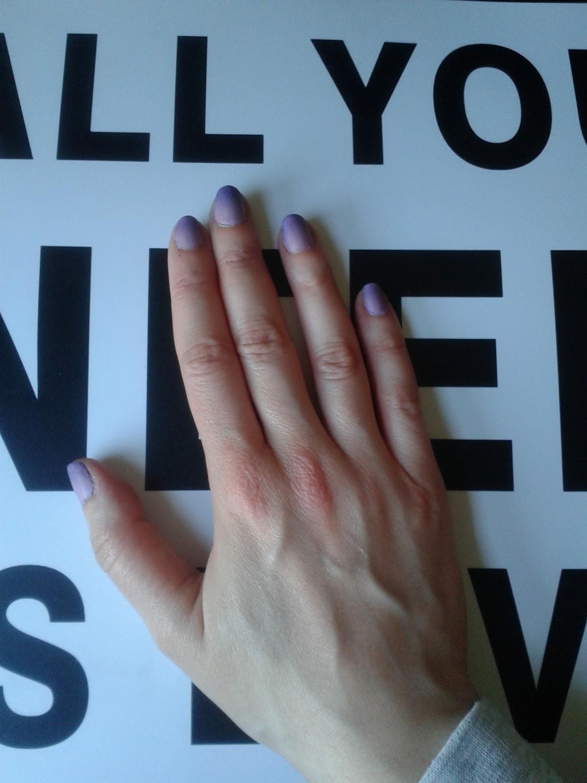 El libro de conjuros de Tita Hellen: Look de Uñas: purple sunrise y ...