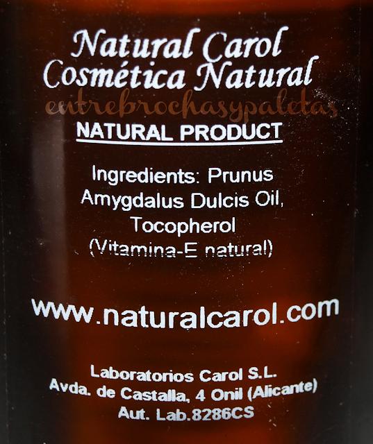 natural carol aceite almendras