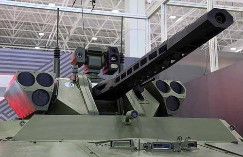 Боевой модуль разведывательно-ударного наземного робототехнического комплекса «Вихрь»