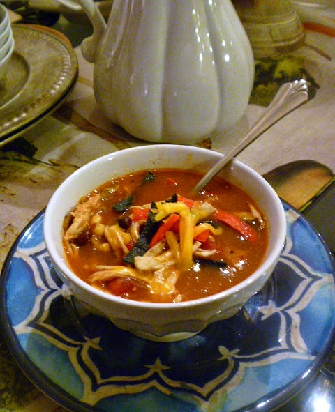 11 Healthy Soups: Chicken Enchilada Soup - Slice of Southern
