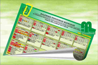 dan MA di lingkungan kantor Kementerian Agama Provinsi Jawa Barat untuk Tahun Pelajaran  Kalender Pendidikan RA, MI, MTs, MA 2017/2018 Jawa Barat Excel-PDF