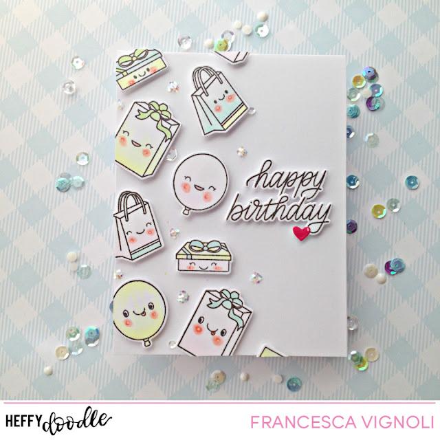 Happy Birthday Card With Franci Heffy Doodle