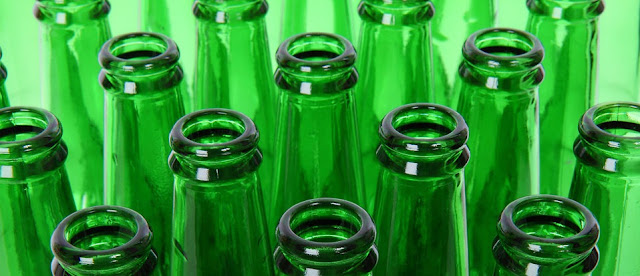 green beer bottles for home brew