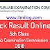 PEC 5th Class Result 2018 Punjab Examination Commission Lahore