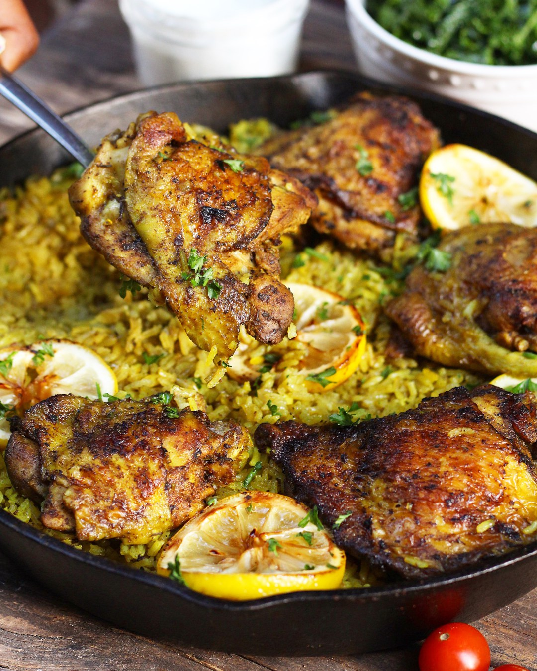 One Pot Middle Eastern Chicken and Rice by Ev's Eats