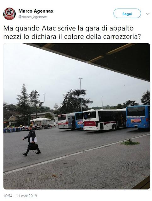 Situazione Trasporto Pubblico Roma mercoledì 13 marzo