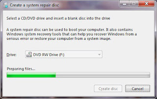 Click the Create a organization ikon on the travel out window How to Create a Windows vii Repair CD