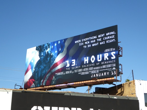 13 Hours Secret Soldiers Benghazi billboard