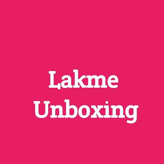 Lakme Unboxing
