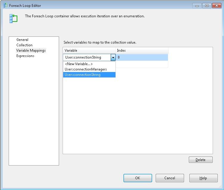 Microsoft SQL Server Integration Services: Loop through all