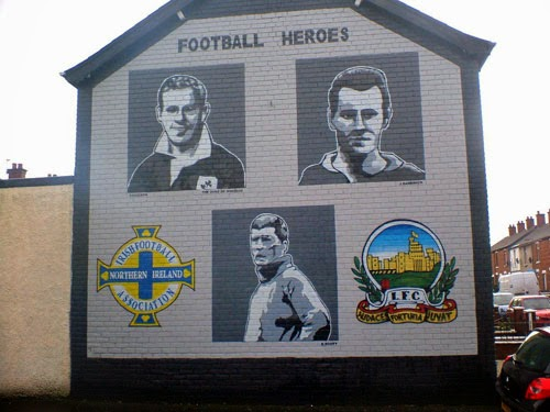 Football mural in Northern Ireland