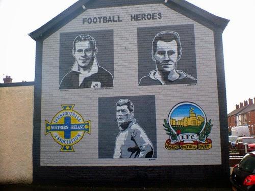 Football mural in Northern Ireland