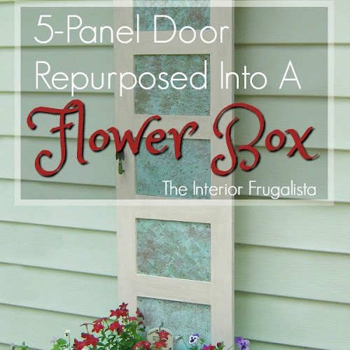 How To Repurpose A Wood Door Into A Flower Planter
