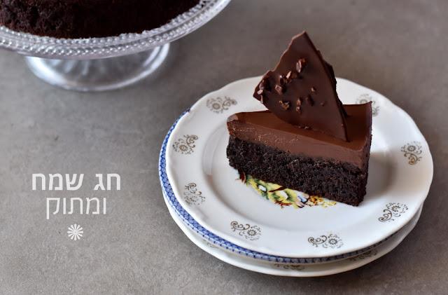 עוגת שוקולד פאדג' ללא קמח לפסח