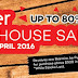 22 - 24 April 2016 Mayer Warehouse Sales