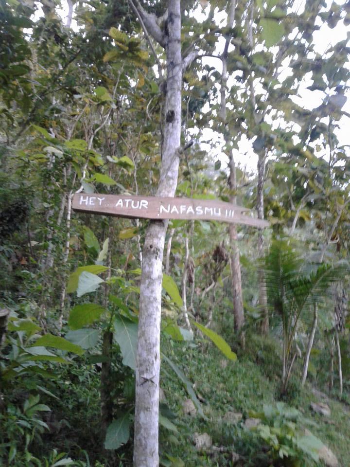 Jalan Menuju curug siluwok