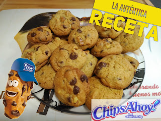 Receta facil de Chips Ahoy! Cookie real Chocolate chip