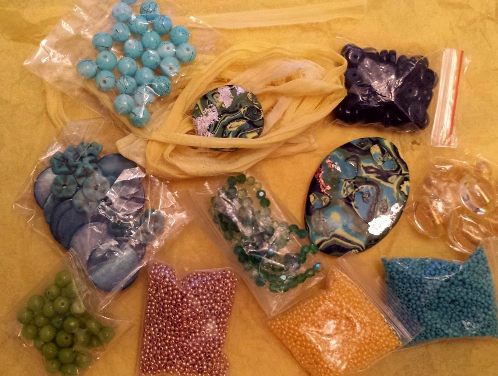 Beed Peeps Swap 'n Hop, May 2 reveal ~ glass, shell, polymer clay, crystal, seed beads :: All Pretty Things