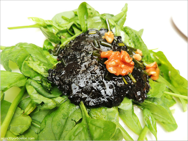 "Grilled Balsamic Portobello with Robinson Farm's ""A Barndance"" and Walnut Vinaigrette"