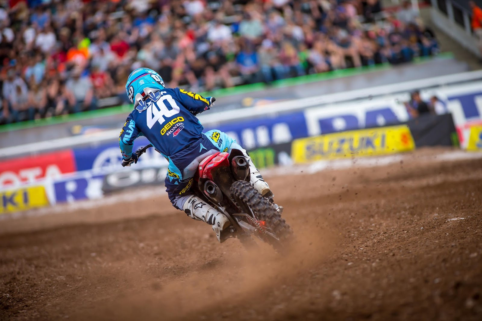 Salt Lake City, UT (April 28, 2018) U2013 Rookie Chase Sexton Again Showed The  Speed To Battle The Established Veterans Of Monster Energy Supercrossu0027  250SX West ...