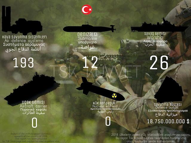 Türk Silahlı Kuvvetleri silah sayısı