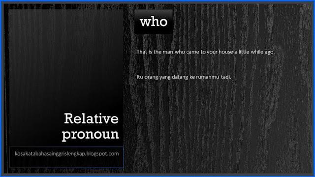 Penggunaan Kata Yang Dalam Bahasa Inggris - beserta Contoh ...