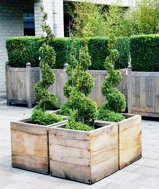Brand new Outdoor Decor: Wood Planters | B.A.S Blog NM03