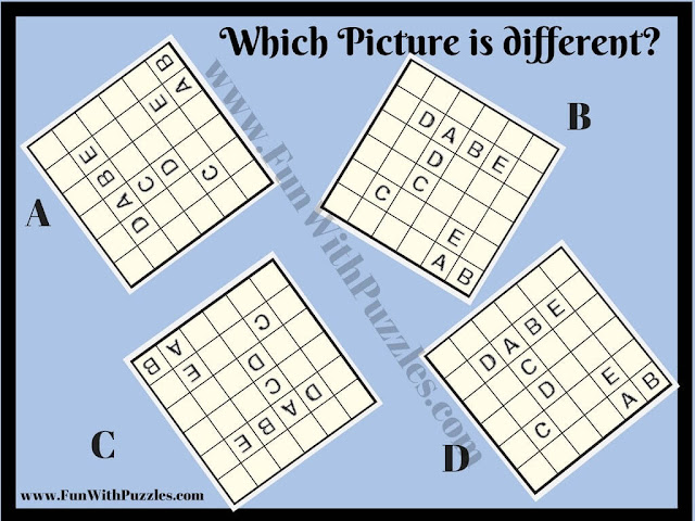 Odd One Out ABC connector puzzle