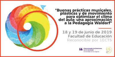 Curso de Extensión Universitaria Tenerife ULL Waldorf euritmia música dibujo de formas
