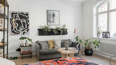Home tour: un apartamento muy pequeño en el que todo el año es primavera
