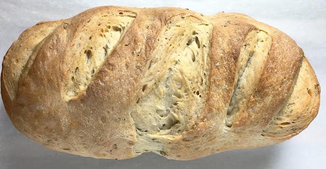 Baked Rye Bread Loaf