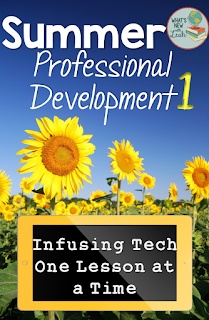 Technology in the classroom can feel really overwhelming, which is a bummer, since it's so important for instruction. This blog post talks about infusing tech one lesson at a time, so click through to read more about adding technology in bite-sized steps.