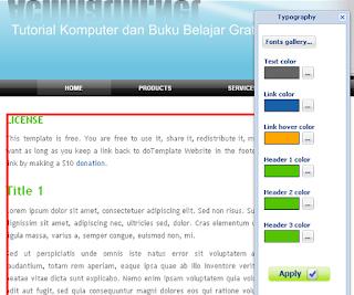 Langkah Membuat Template Website