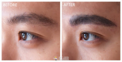 Immediate result after my Korean Eyebrow Embroidery touch up with Ivy Brow Design (left eye)