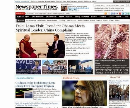Newspaper Times Blogger Template