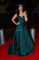 Raashi Khanna in Dark Green Sleeveless Strapless Deep neck Gown at 64th Jio Filmfare Awards South ~  Exclusive 050.JPG