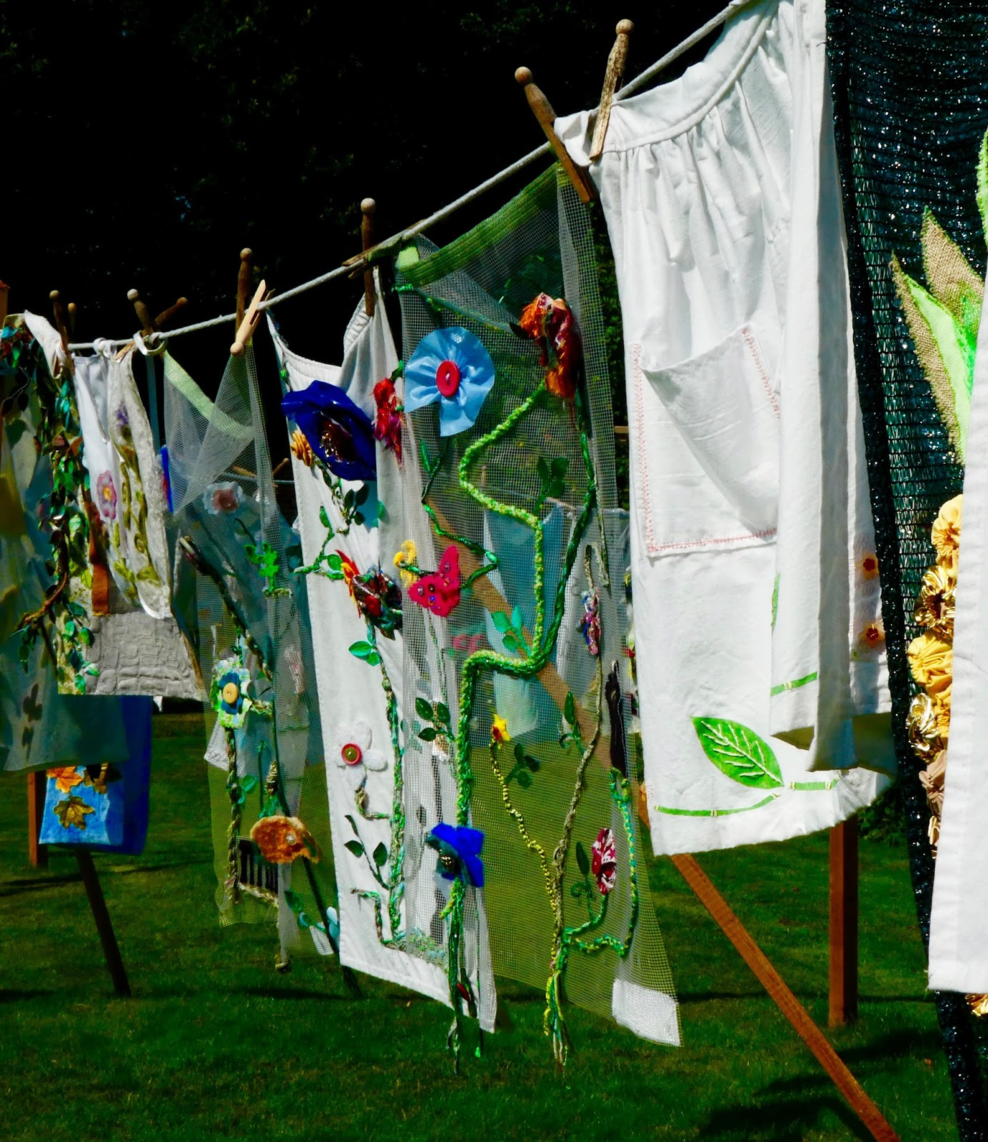 Gibside - A North East National Trust Property that's ideal for Picnics, Adventure Playground fun and beautiful gardens - Walled Garden washing line
