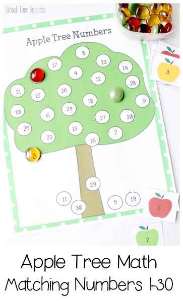 Apple Math Printable for Preschoolers