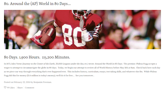 Freeman's Blog Countdown - Excellent Daily Resource