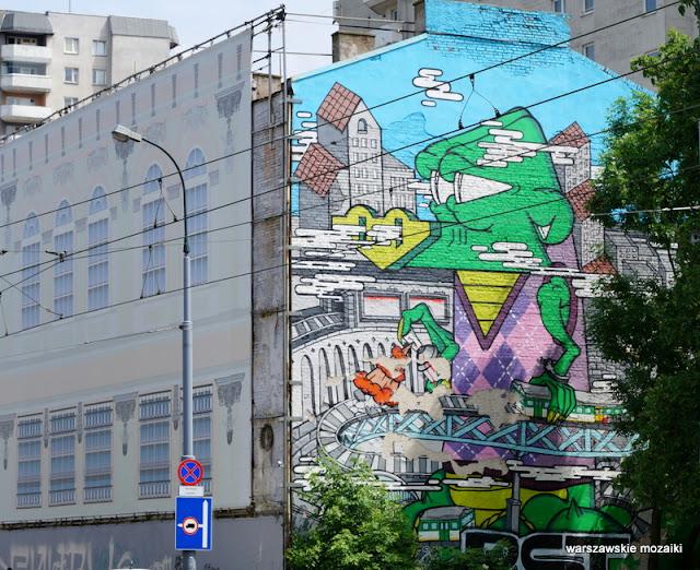 Warszawa Warsaw murale warszawskie kamienica street