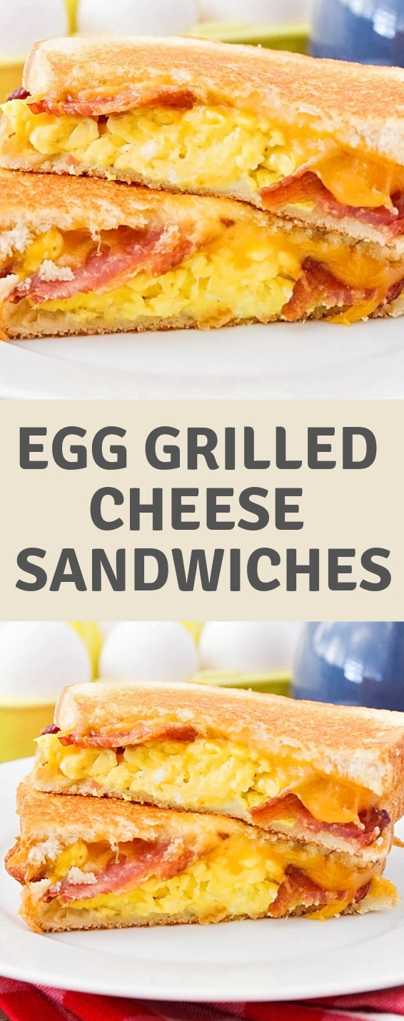 Bacon and Egg Grilled Cheese Sandwiches