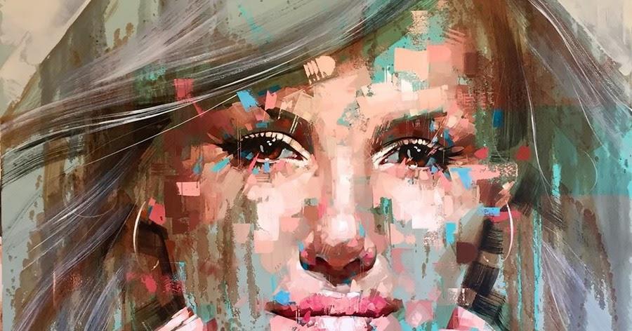 Imágenes Arte Pinturas: Rostros De Hombres Y Mujeres